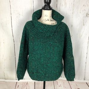 GAP green vintage 100% wool women's Sweater L EUC